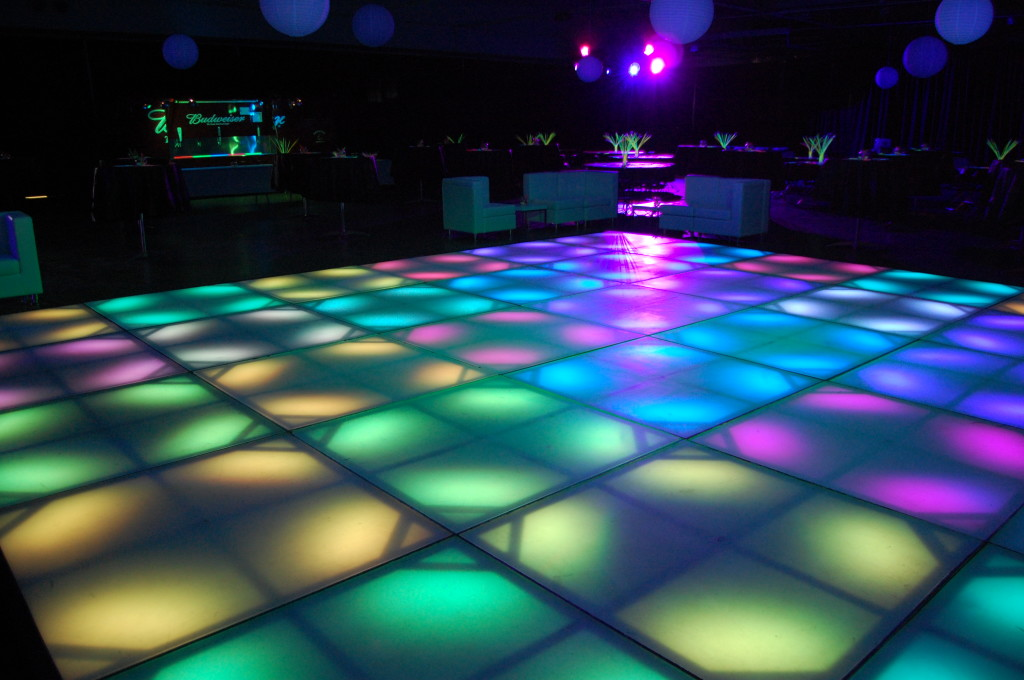 custom dance floors are hot