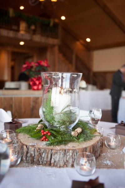 Wood Round Centerpieces