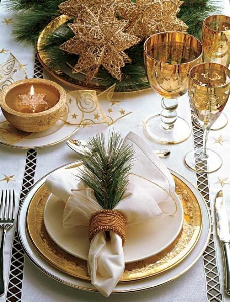 Gold Charger Table Setting