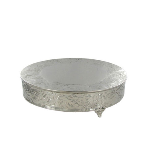 Silver Round Cake Stand 14 Lawson, Silver Round Cake Plateau